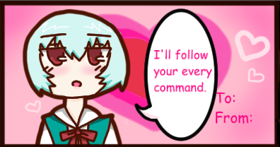 Rei ayanami valentine By cosmo  Cat d8gljhu