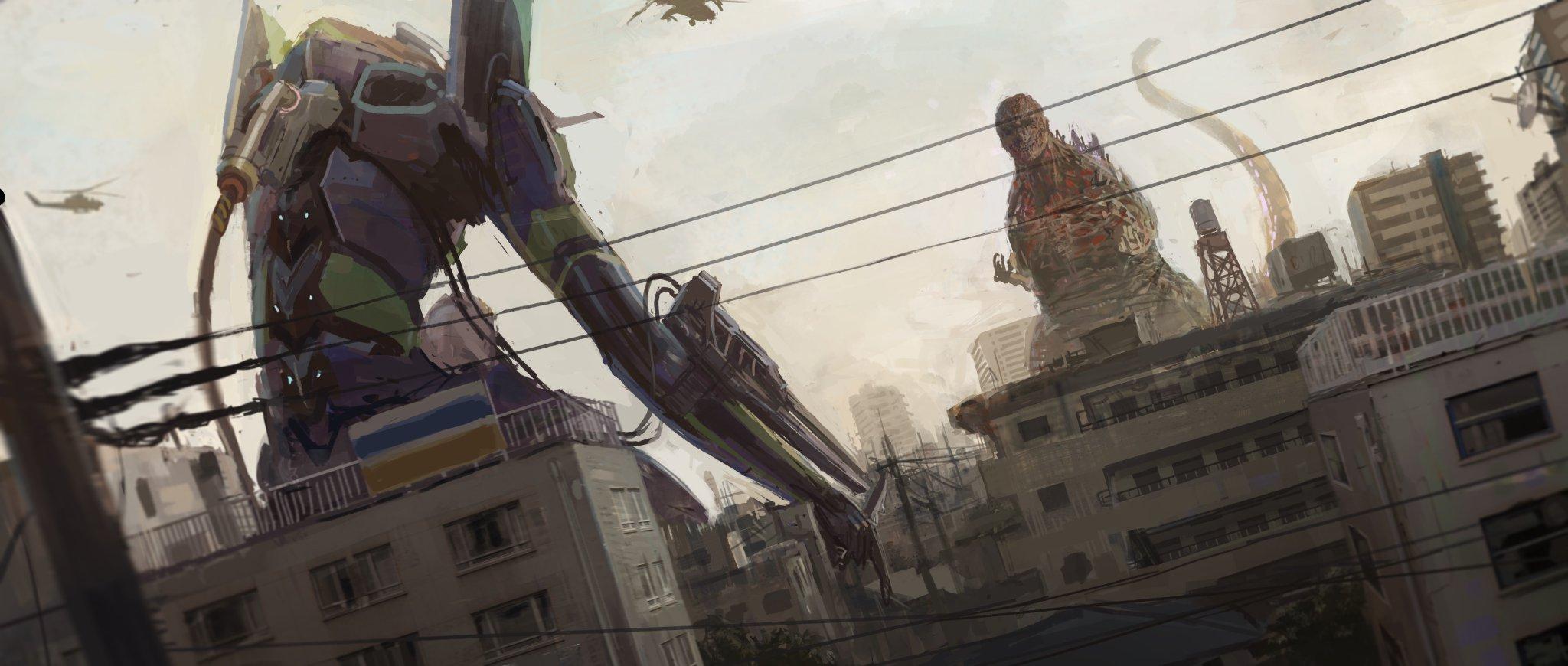 Anime EVA 01 Evangelion godzilla 3343995