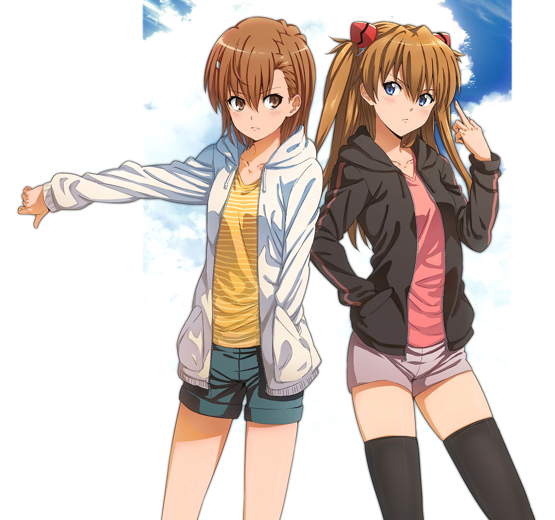 Anime Misaka Mikoto ToAru asuka langley soryu 2519812
